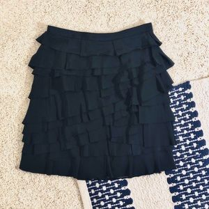 Club Monaco Black Ruffled Mini Skirt